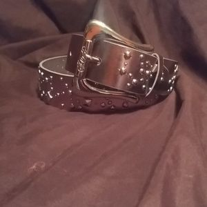 """NWT Silver Studded GUESS Belt 32""""-36"""""""